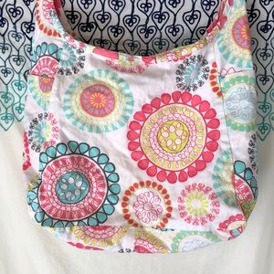 RARE Thirty One inside out hobo bag medallion